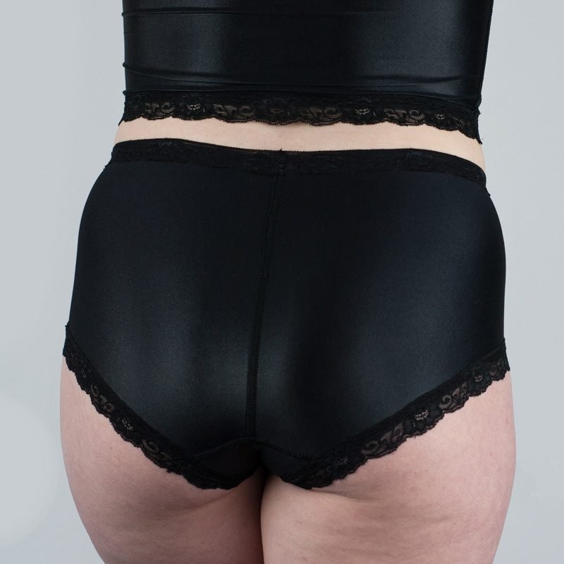Jean Hot Knickers Black Satin Back
