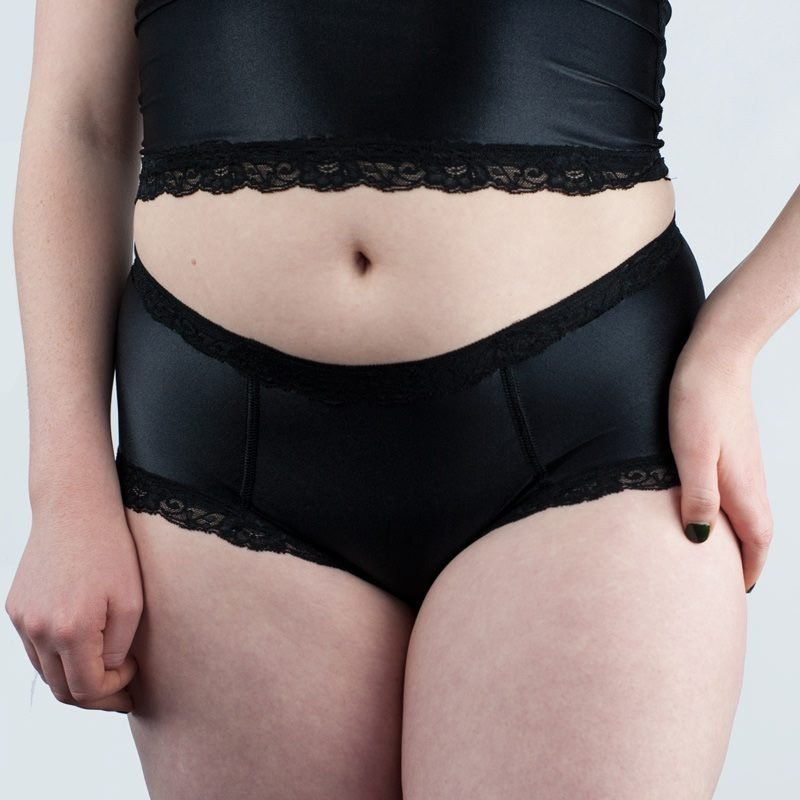 Jean Hot Knickers Black Satin Front