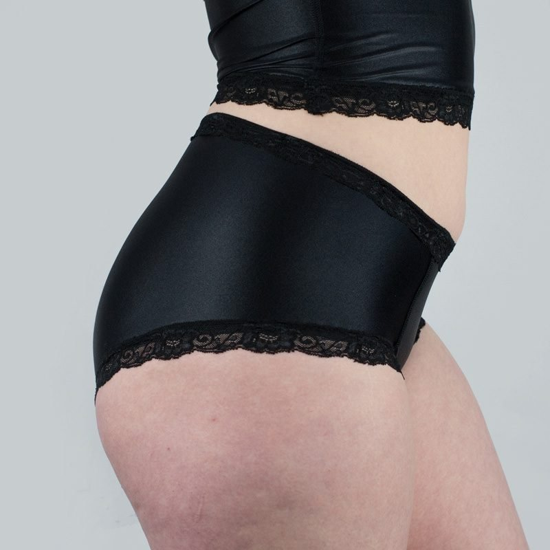 Jean Hot Knickers Black Satin Side