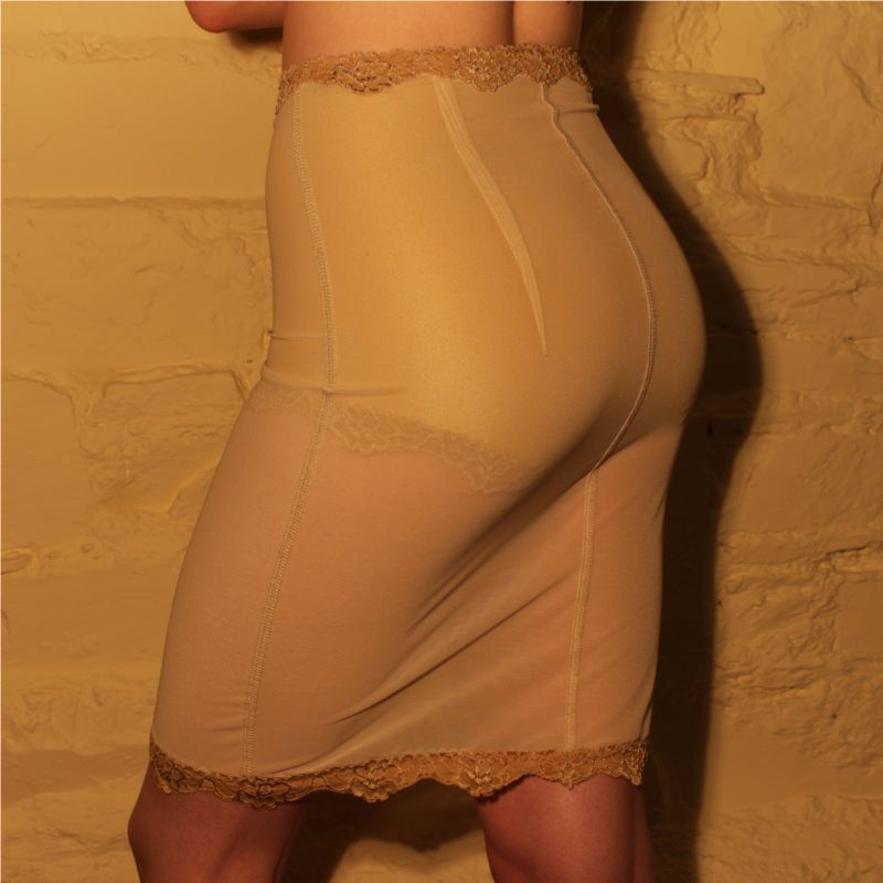 Half Slip Flesh Mesh Back