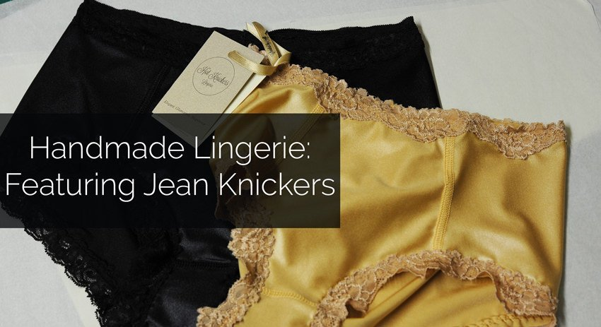 Feature Image For Handmade Lingerie Blog Series Featuring Jean Knickers