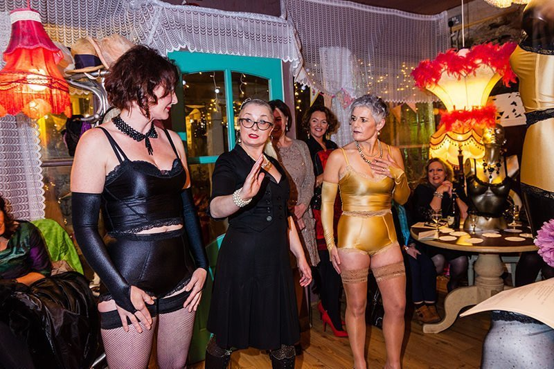 Designer Ali Directing Her Knicker Party Fashion Show