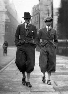 Men Wearing Vintage Style Knickerbockers