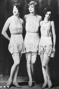 Women Wearing Vintage Style Lingerie